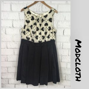 ModCloth heart print dress with pockets size 1X